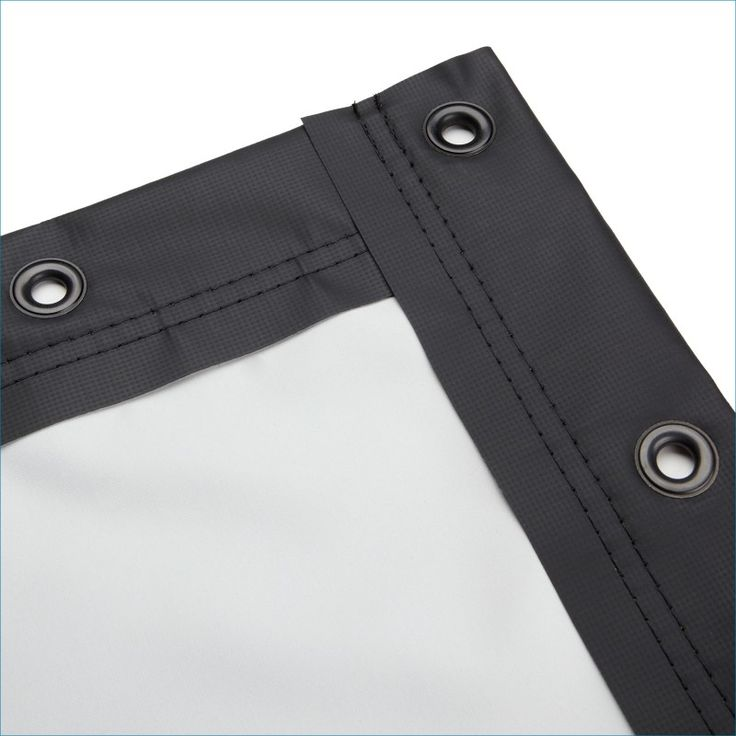 Carl's Place Blackout Cloth Projector Screen - Finished Edges with Grommets