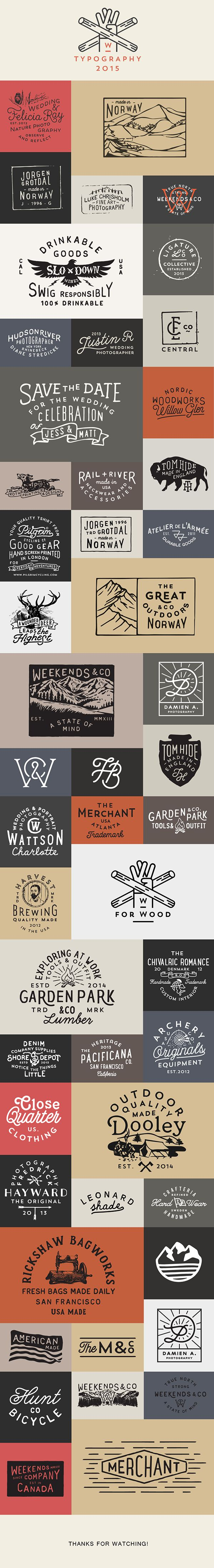 Logos & Typography 2015 on Behance