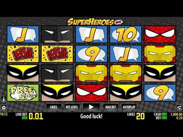 Super Heroes Free Slot Game with No Deposit Bonus & Free Spins