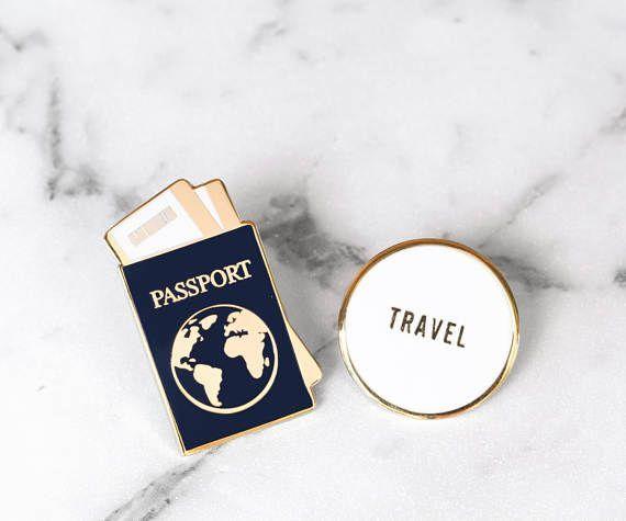 Traveler Enamel Pin Collection Passport Travel Pin