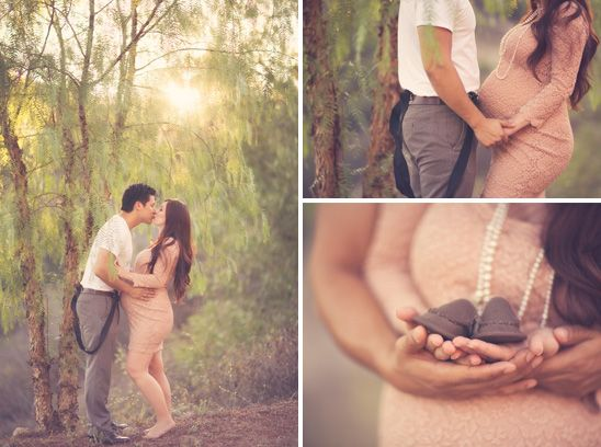Romantic Maternity Photos with a Vintage Feel - On to Baby