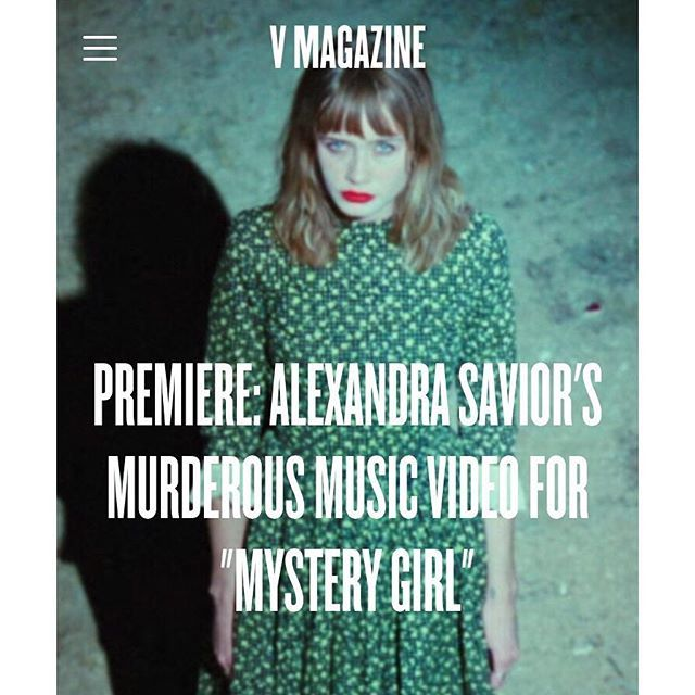 highrisemedia/2016/11/22 05:38:33/Alexandra Savior (@alexandrasavior)  premiered the Twin Peaks-esque video for her latest single, #MysteryGirl.