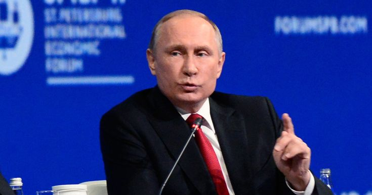 """A frustrated Vladimir Putin dismissed allegations that Russia tried to influence last year's presidential election as """"hysteria"""" and compared the attention to the issue in the U.S. to anti-Semitism, while speaking on a panel discussion moderated by NBC's Megyn Kelly Friday. http://nym.ag/2qQW6e7"""