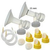 Maymom Breast Pump Kit for Medela Lactina Symphony Older Pump in Style Advanced Pumps 2 Breastshields 4 Valves 6 Membranes  2 Tubes for Pump in Style Advanced Sold Before July 2006 Replacement Parts for Medela Breast Shield Medela Tubing Valves and Membranes -- Check out this great product.-It is an affiliate link to Amazon.