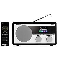 Lytt til dine radiofavoritter i god kvalitet med denne praktiske radioen fra Radionette. Med Bluetooth-tilkobling kan du i tillegg strømme musikk fra smarttelefon og nettbrett på en enkel måte.