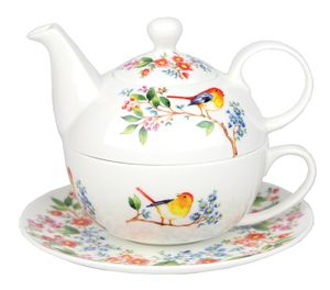 ASHDENE TREE OF LIFE- TEA FOR ONE  $38.50 Tea For One- Tree Of Life reflects the natural beauty of the world around us. Birds singing uplifting melodies and chirp merrily to herald the new day. The bountiful branches of fruit and flora celebrate the wonderful creations of Mother nature.  Bone China