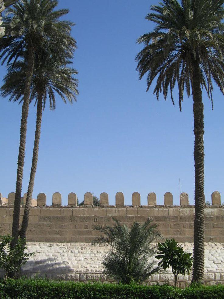 Crenellated fortress wall in Cairo. Photo: David Yustin