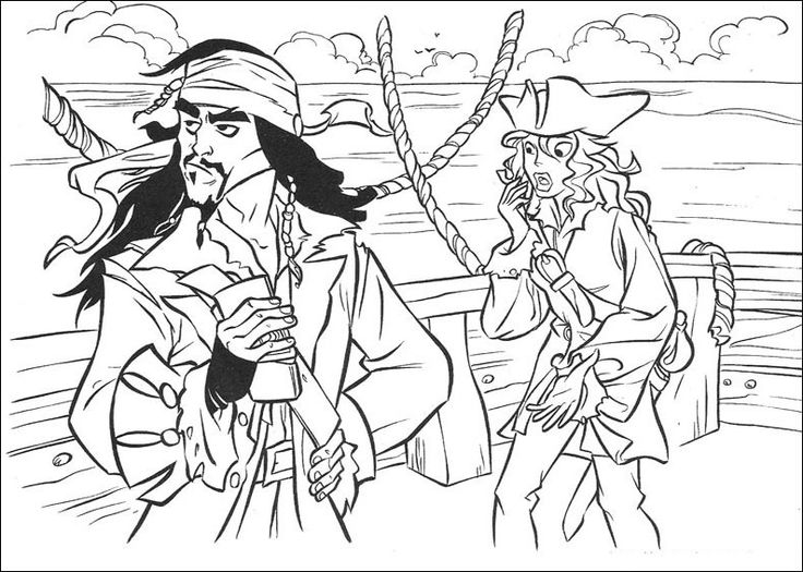 Coloring Pages Disney Pirates Caribbean : Best images about pirates of the caribbean disney