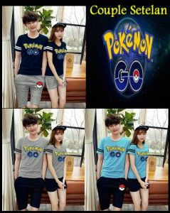 Kaos Couple Setelan Pokemon Go MTFA10