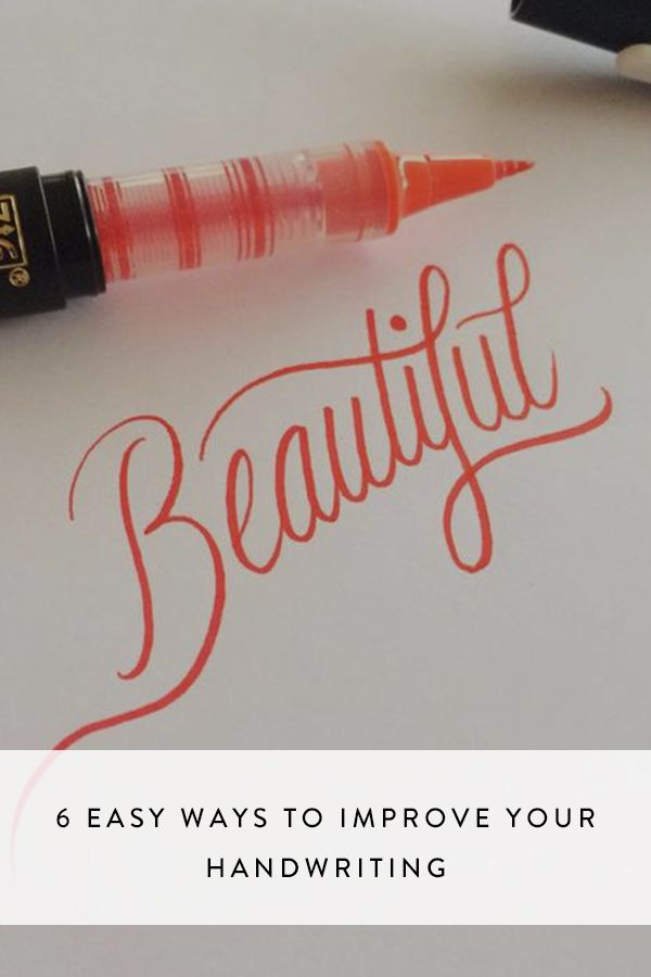 6 Easy Ways to Improve Your Handwriting via @PureWow