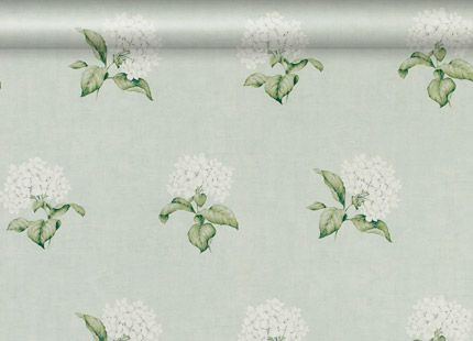 Heligan Eau de Nil Floral Wallpaper