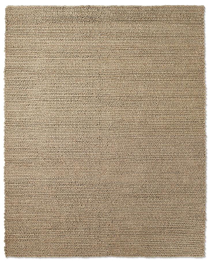 Chunky Braided Wool Rug - Oatmeal