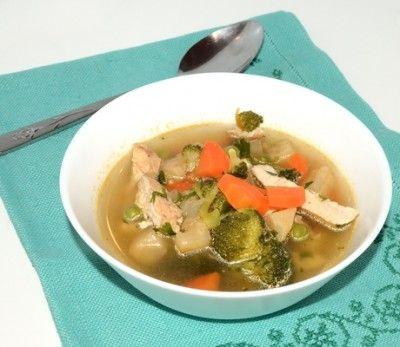 #reteta #supa de pui cu brocoli