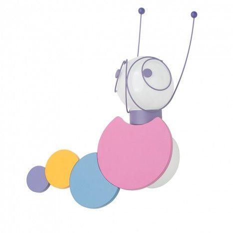 30267-55-10 childrens caterpillar wall ceiling single light flush