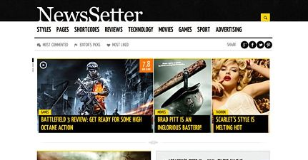 Magazine theme.. will make your site more powerfull.. purchase this theme ^^