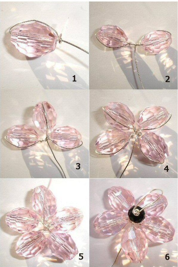 37 best Wire Wrapped Flowers images on Pinterest | Seed beads ...