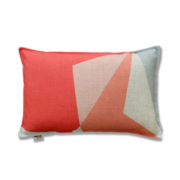 Abstract Cushion - Coral | $132.00