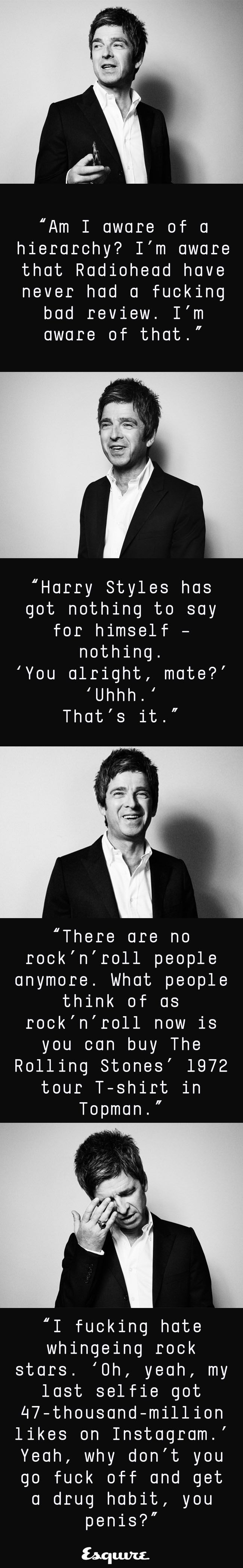 Read Noel Gallagher giving it both barrels, only on Esquire: http://www.esquire.co.uk/culture/music/9081/noel-gallagher-is-esquires-december-cover-star/