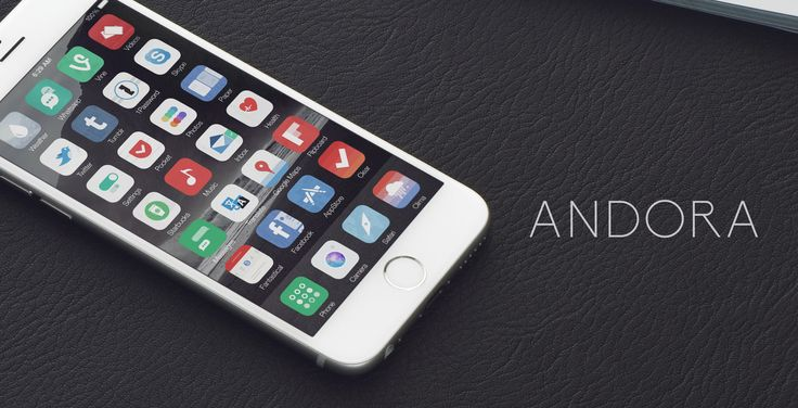 Andora theme iOS 8 - Released by thetimeloop.deviantart.com on @DeviantArt