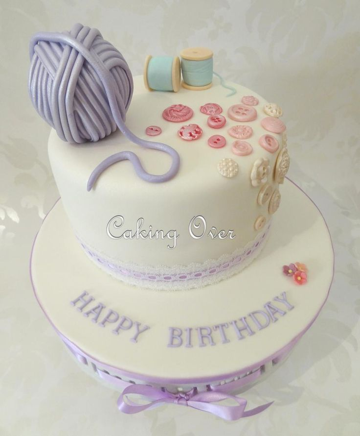 A sewing theme cake for my Nan. By Caking Over
