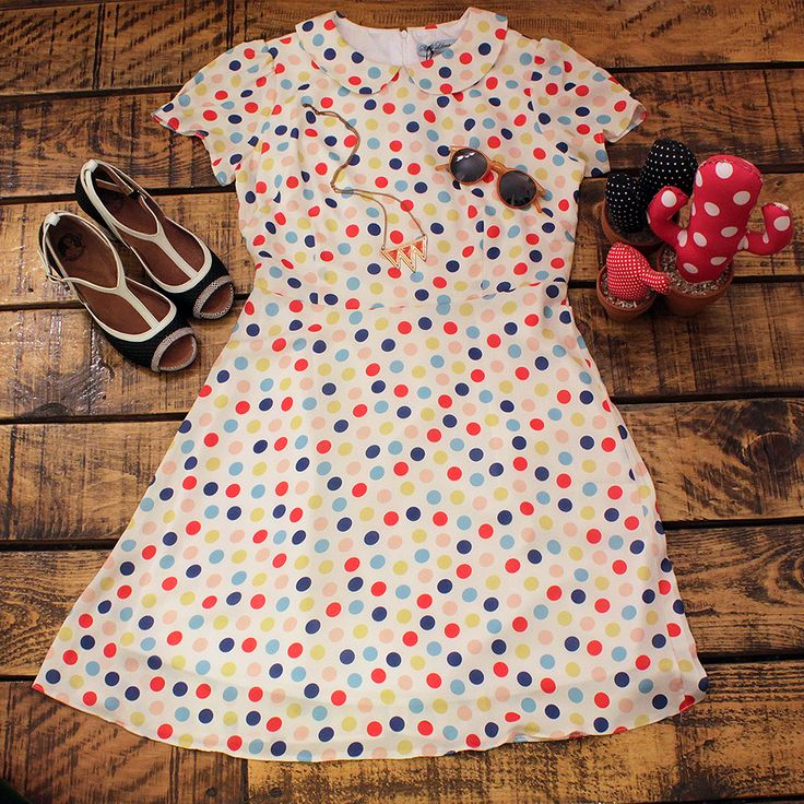 #dress #polkadots #colors #laveintinueve #barcelona #boutique