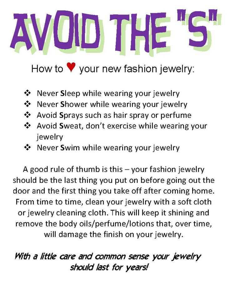 You will want your jewelry to still have that same new sparkle to it through many glamorous events. Here are five tips you can follow to make your jewelry last.