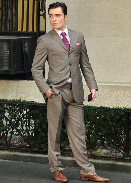 chuck bass grey suit - photo #8