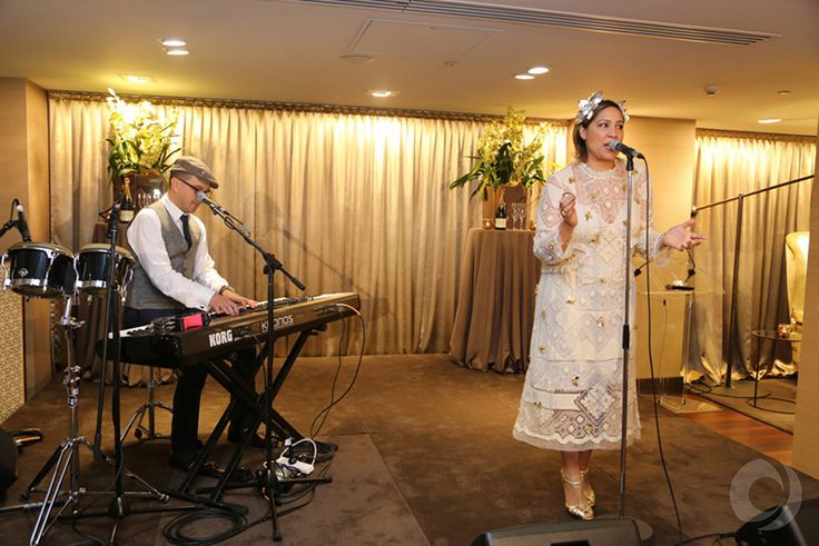 Kate Cerbrano performing at the Sportsnet 2015 Oaks Day Champagne Brunch. Location - Myer Mural Hall
