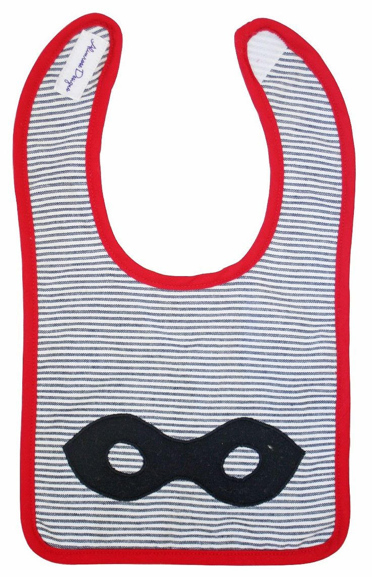 Gorgeous and fun Super Hero bib by Alimrose Designs that will make your little Super Hero look forward to eating their meals!!