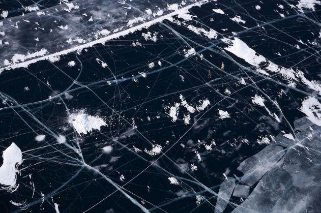 Fishermen on frozen Lake Baikal, Siberia, Russia - Yann Arthus-Bertrand: Aerial Photo, Favorite Places, 44 Photo, Yannarthusbertrand, Lakes Baikal, Frozen Lakes, Images Photo, Yann Arthusbertrand, Yann Arthus Bertrand