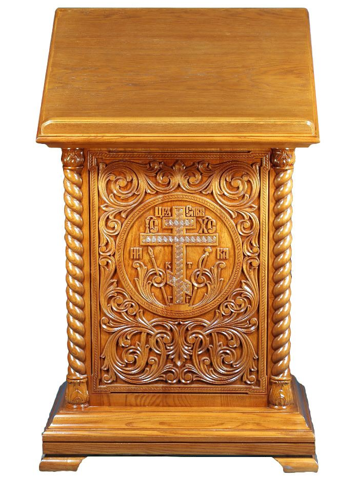 Church lecterns Lavra2 carved lectern double  Istok