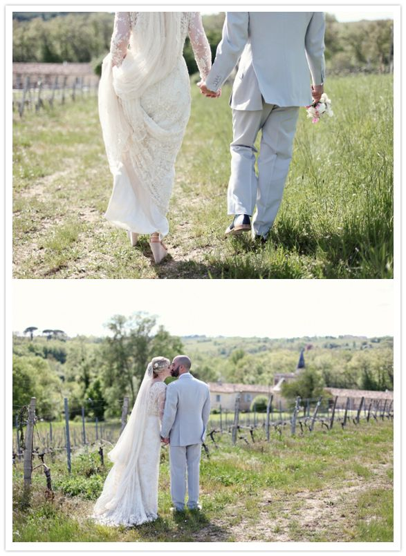outdoor French countryside wedding