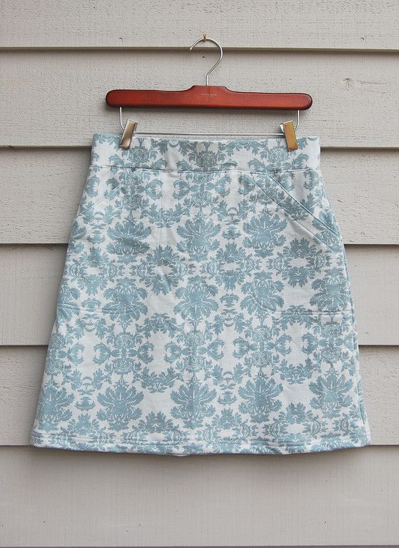 A-Line Skirt - although I wouldn't make this from knits, it contains a great tutorial on adding pockets.