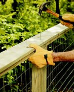 This post actually has content! Easy DIY wire fence