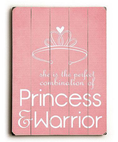 Another great find on #zulily! 'Princess & Warrior' Wall Art #zulilyfinds