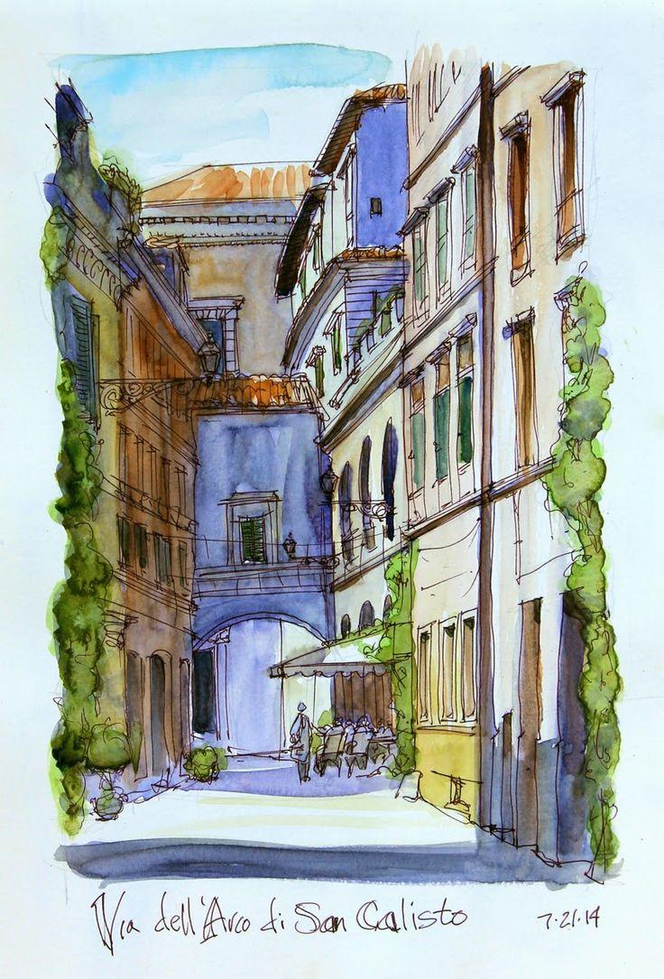 Chris' Sketches | Study Rome 2014