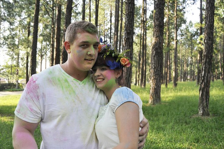 Jani & Guillaume Engagement shoot - Holi powder,