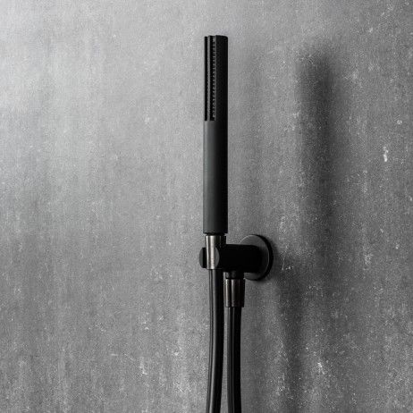 Mare Handshower & Integrated Wall Union Matte Black