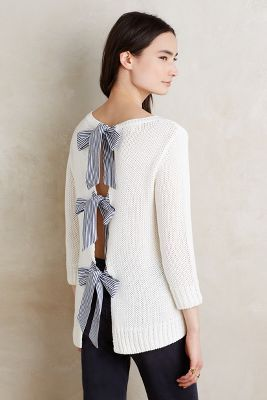 Bow-Back Pullover