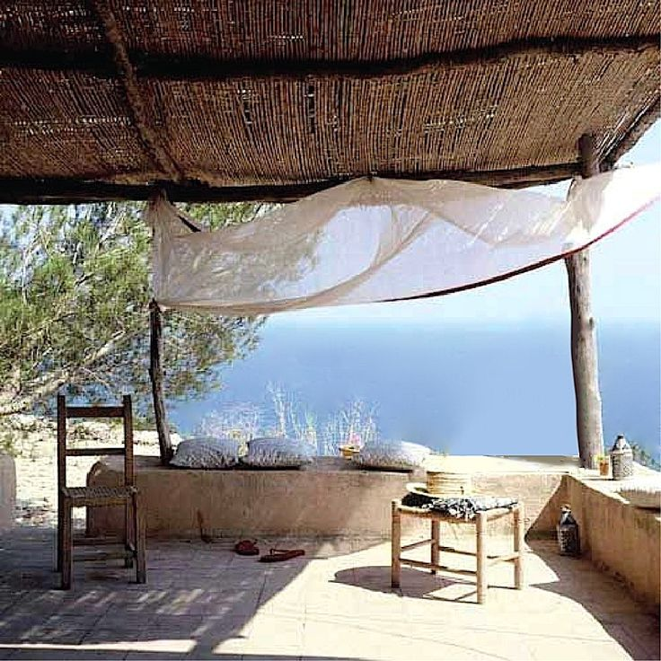 What a view, and I love the rustic charm. - Casa Elena on Formentera Spain