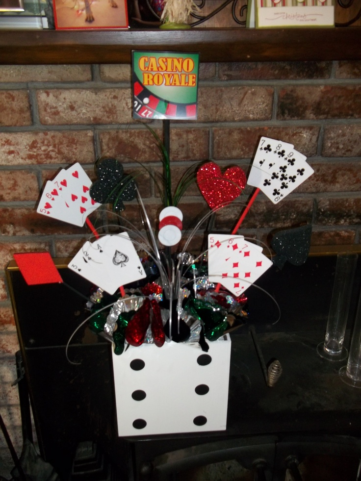 casino night table centerpieces crafts casino party