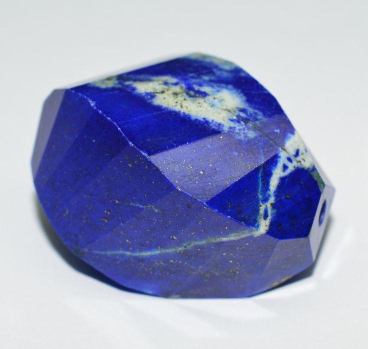 Lapis Lazuli Edelstein Anhänger facettiert & gebohrt 100.57 karat in Sammeln & Seltenes,Mineralien & Fossilien,Edelsteine | eBay
