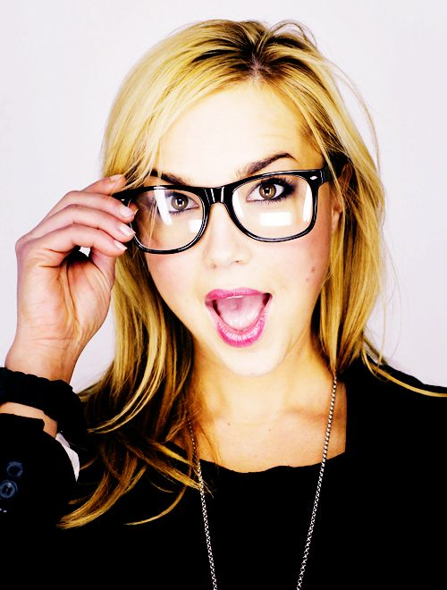 Arielle Kebbel ... making glasses look good! I adore any woman that is not afraid to be silly, life's too short to be serious all the time. And I'm loving her honey blonde hair.