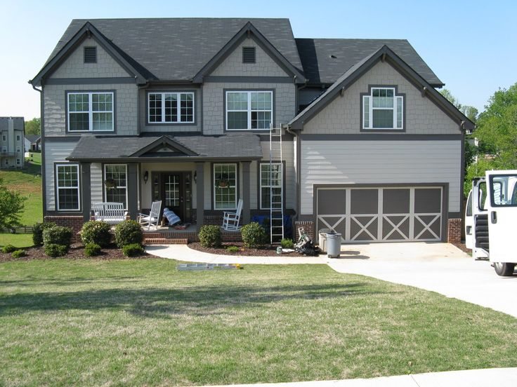 Color Schemes For Houses modern exterior paint colors for houses | grey trim, white fence