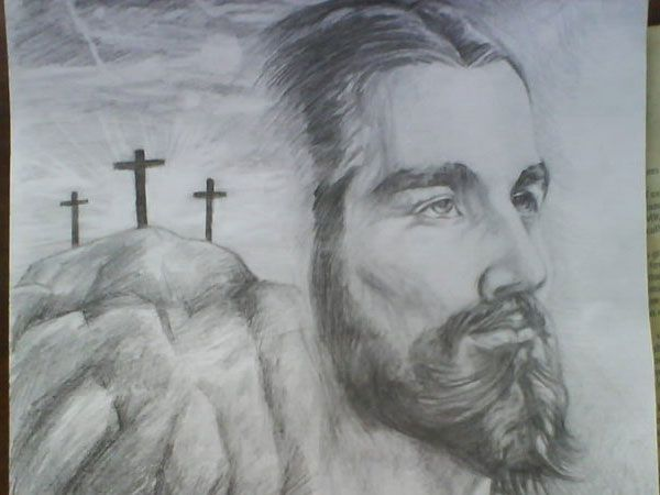 Religious Sketches | drawing jesus christ 30 Magnificent Drawings of Jesus