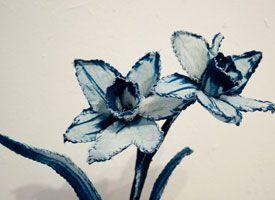 Cyanotype Sculptures by Indianapolis artist Tasha Lewis, on Etsy