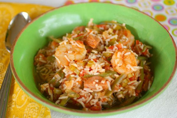 It's Gluten-free Friday! Try this easy Sausage & Shrimp Gumbo!