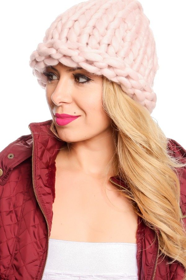 PINK THICK KNITTED WINTER BEANIE,Women's fashion & function hats,stylish deisgner hats,beanie,beanie hat,pom pom beanie,floppy hat,bucket hat,fedora hat,knit beanie,dress hats,cheap hats for sale,sweet&sexy hats,straw,sun,cowboy hats and more