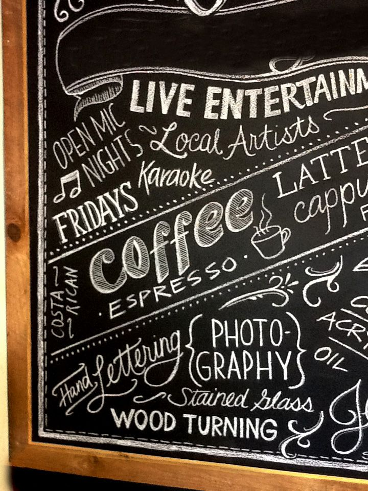 coffee shop wall art coffee shop chalkboard art leave