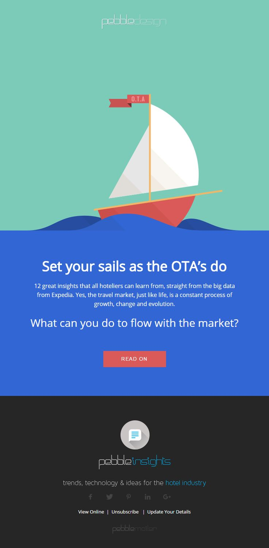 Set your sails as the OTA's do - Hospitality Insights #hospitalityinsights #hotelwebdesign #hotelwebsitedesign #pebbledesign #hotelwebsites